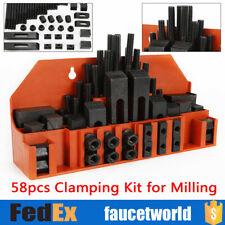 58pcs Clamping Nuts Kit F Metal Millingdrilling M12 14mm T Slot Step Block Set