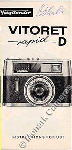 VOIGTLANDER VITORET d caméra rapide notice d'instructions. plus manuels énumérés-afficher le titre d`origine EVcDn4Kb-07210739-398979837