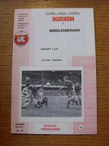 08041972 Leyton Orient v Middlesbrough  Folded - Birmingham, United Kingdom - Returns accepted within 30 days after the item is delivered, if goods not as described. Buyer assumes responibilty for return proof of postage and costs. Most purchases from business sellers are protected by the Consumer Contr - Birmingham, United Kingdom