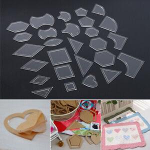 54pcs-set-Acrylic-Ruler-Quilt-Patchwork-Template-Quilting-Sewing-DIY-Tool-Craft