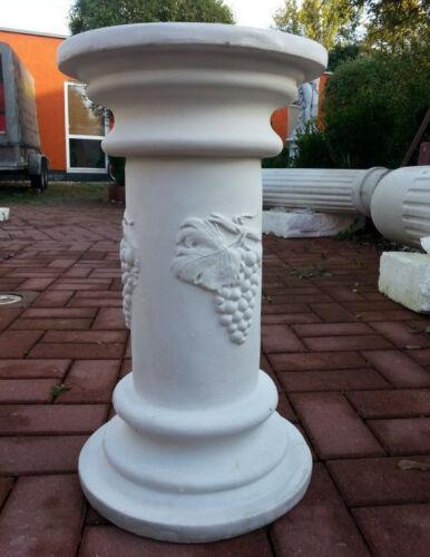 "Sockel Säule /""mit Weintraube/"" 51 cm Skulpturen Steinguss Gartendeko Betonsäule"