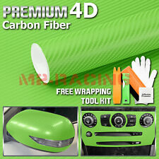 3ftx5ft 4d Gloss Green Carbon Fiber Vinyl Wrap Sticker Bubble Free Air Release