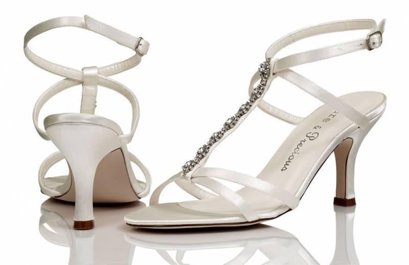 Ivory satin wedding bridal bridesmaid shoe 4,5,6,7,8 by Pure and precious JORDAN