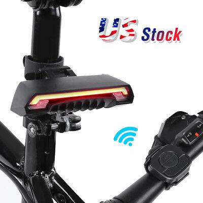 Mountain Bike Wireless Laser LED Tail Light Remote Control Turn Signal Rear Lamp