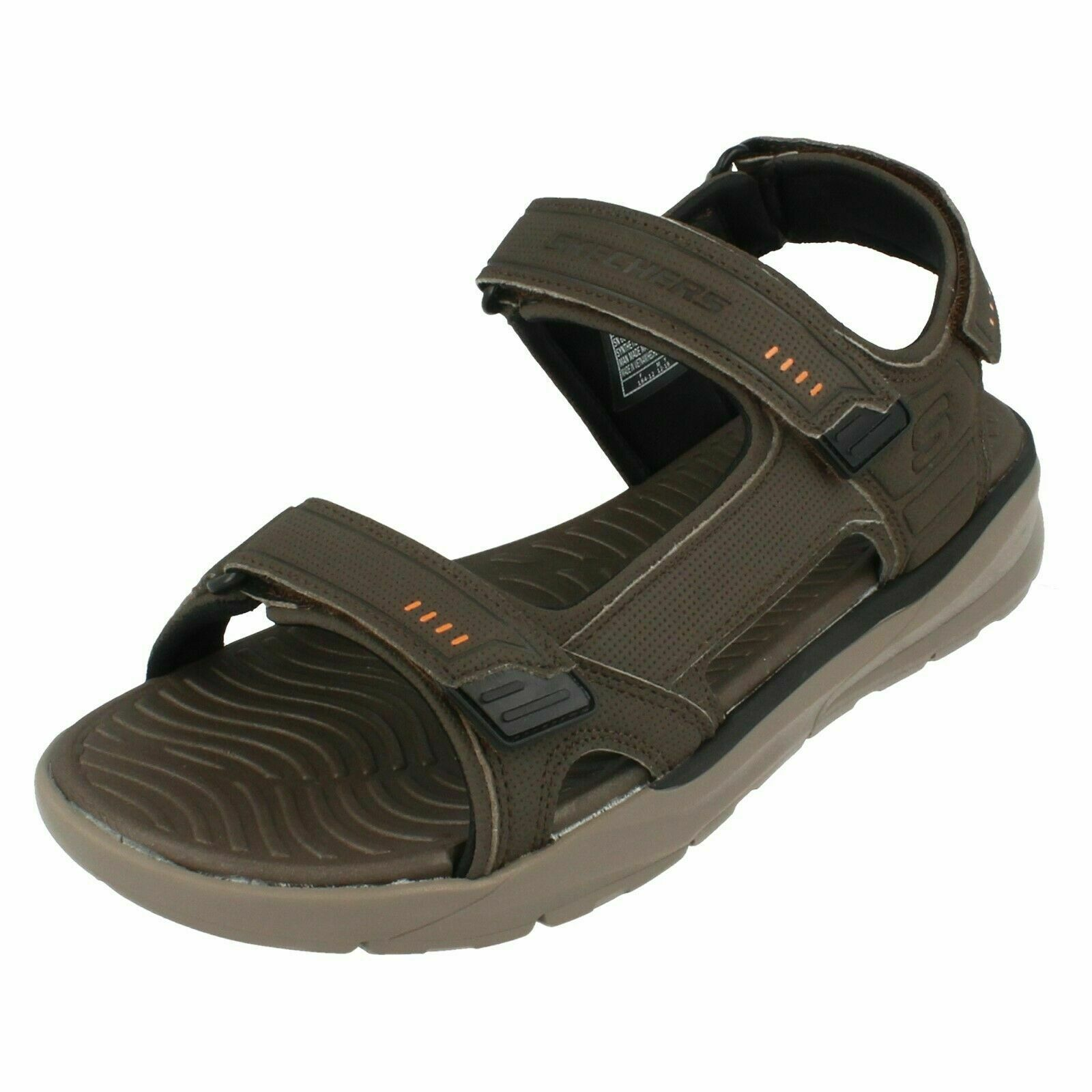 Mens Skechers Relaxed Fit Relone- Senco 66067 Casual Sandals