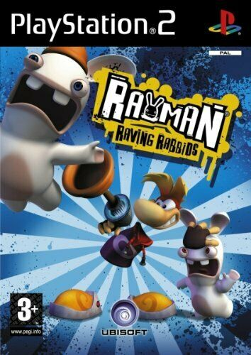 RAYMAN RAVING RABBIDS PER PS2 USATO DI PLAYSTATION 2 IN ITALIANO!!!