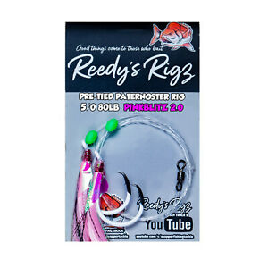 5x-Paternoster-Ultra-Fishing-Rig-5-0-Circle-Hook-Bottom-Best-Snapper-Rigs-Pink