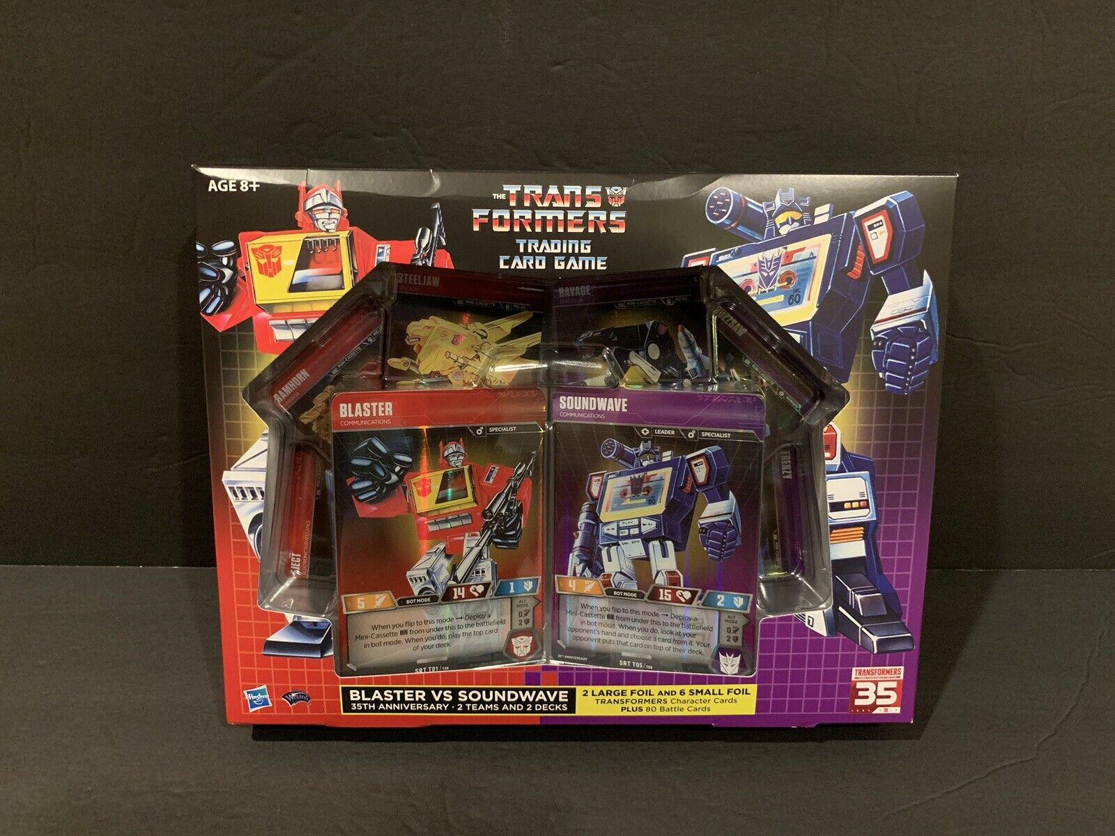Transformers 35th Anniversary Blaster Vs Soundwave 2 Deck Set Tcg Sdcc 2019 Nisb Ebay