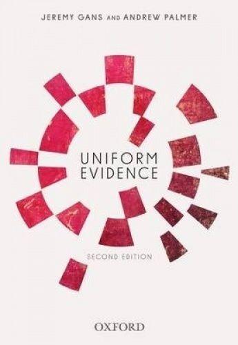 1 of 1 - Uniform Evidence by Jeremy Gans, Andrew Palmer (Paperback, 2014)