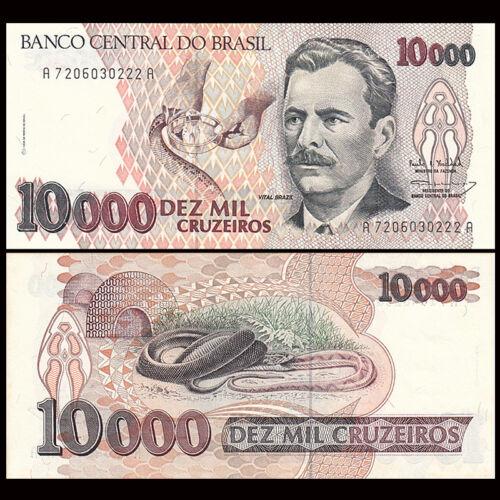 UNC Brazil 10000 10,000 Cruzeiros Banknote P-233c 1993
