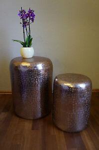 Hocker Callio 2 Teiliges Set Ca 50 40 Cm Hoch Kupferfarben