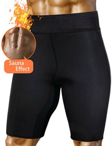 New Men Neoprene Sauna Thermo Sweat Body Shaper Slimming Pants Bottom Shapewear