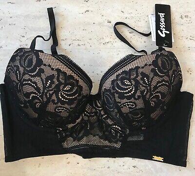 Gossard Encore deep padded plunge bra in  Black /& gold