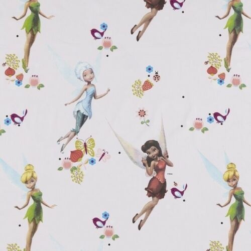 Disney Tinkerbell And Friends Fairies Flowers 100/% Cotton Curtain Lining Fabric