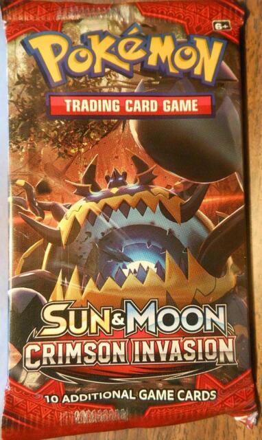 Pokemon Sun & Moon CRIMSON INVASION Booster Pack (sealed)