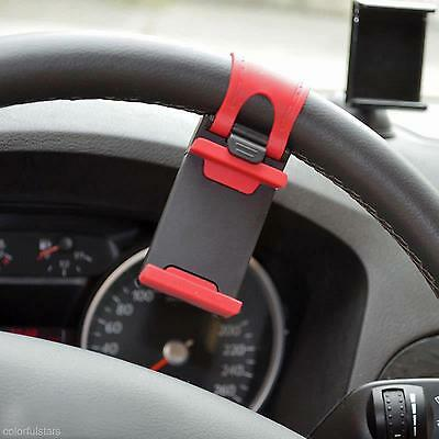 Rubber Car Steering Wheel Mount Holder Cradle Stand For iPhone 5S 6 Galaxy S4 S3