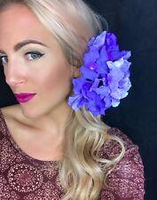 Big Purple Hydrangea Flower Corsage Hair Clip Choochie Choo Bride Bridal Wedding