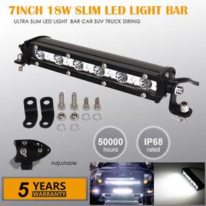 Mini Led Light Bar >> Details About 7 Inch Spot Slim Mini Led Work Light Bar Single Row Car Suv Truck Offroad Lamp