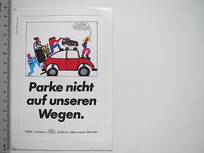 Aufkleber Sticker Sicherer Lebensraum Verkehr Parken Kinder Gehweg 6837 Ebay