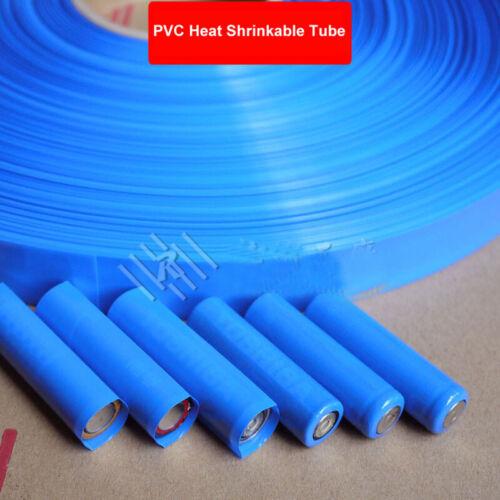 Ø4~127mm Blue PVC Heat Shrinkable Tube Wrap Battery Insulation Sleeve Protector