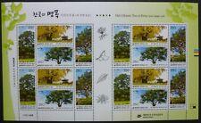Korea Süd 2011 Bäume Trees Pflanzen III Plants Forest 2808-11 Kleinbogen MNH