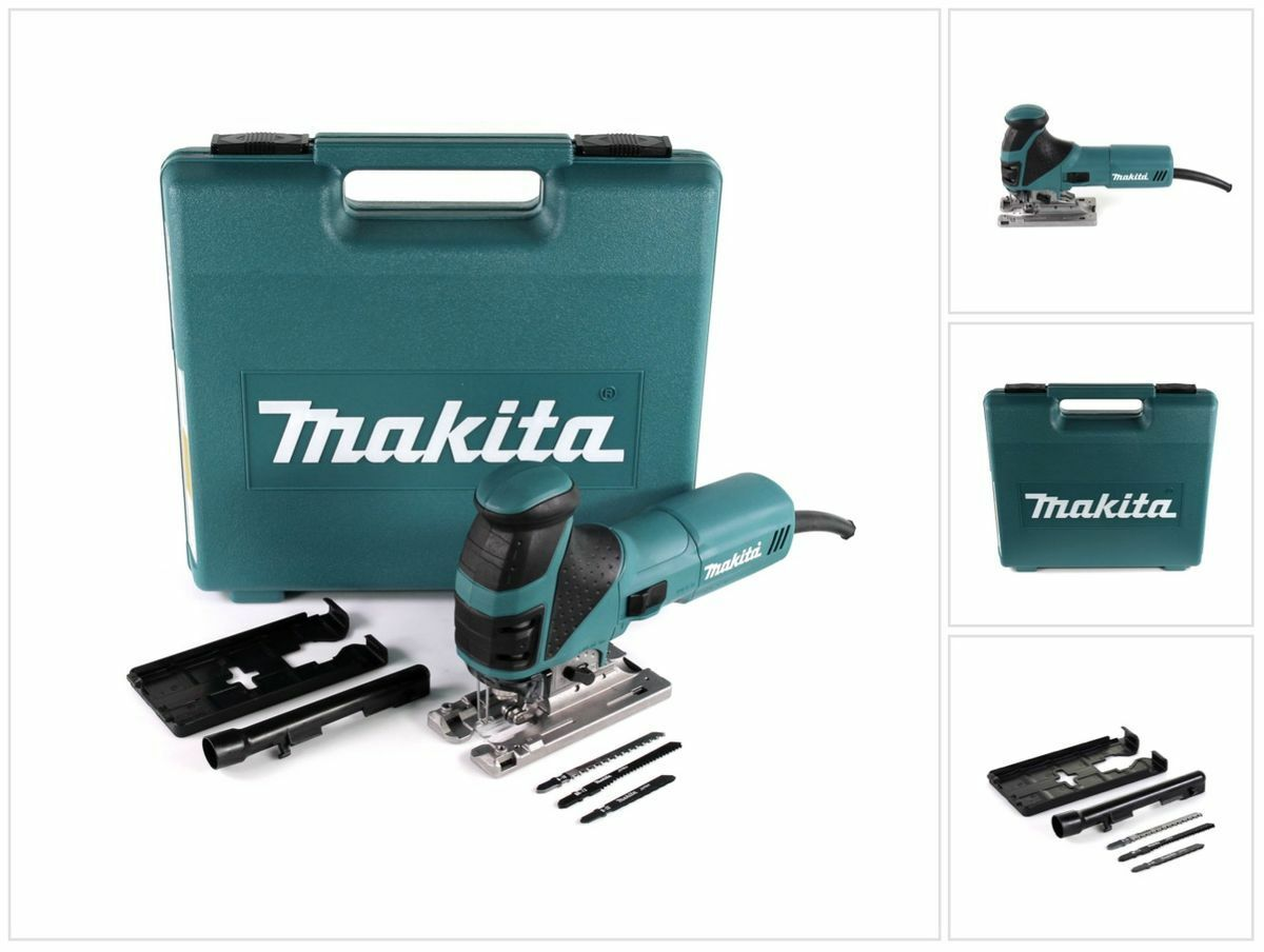 Makita 4351 FCT Stichsäge 720W + Sägeblatt-Set + Gleitplatte + Spanreißschutz