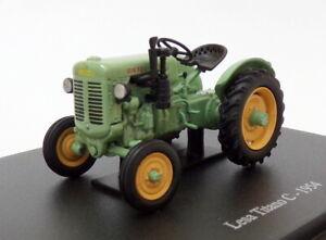 Hachette-Tractor-de-modelo-de-escala-1-43-HT138-1954-LESA-TITANO-C-Verde