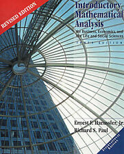 Introductory Mathematical Analysis for Business, Economics and Life and Social S