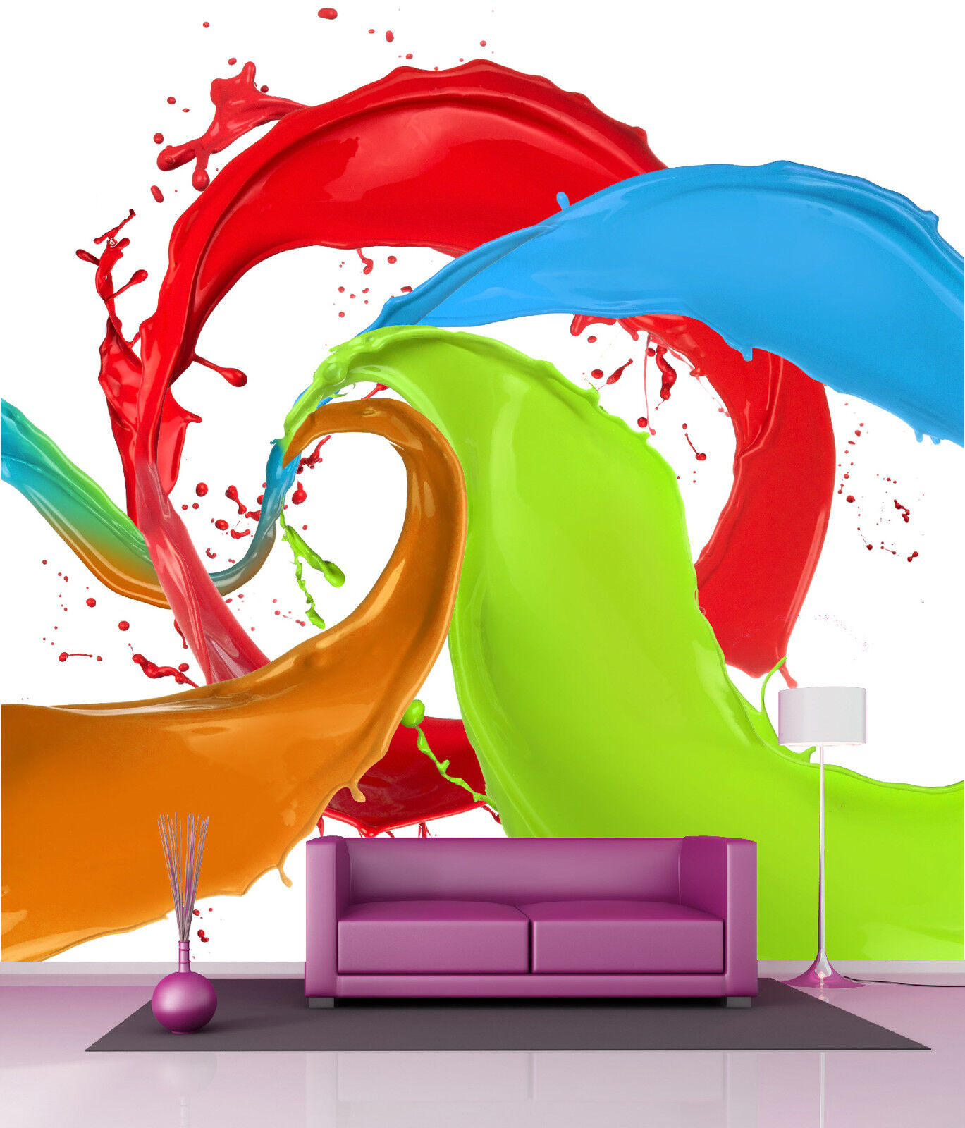 Papier Lackiert Riesig Wanddekor Farben Ref 4542