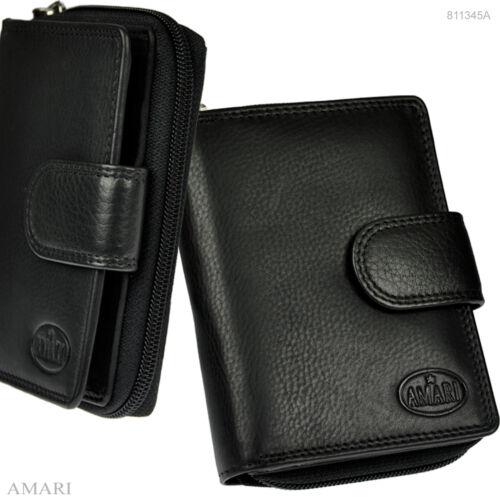 AMARI Damen Portemonnaie mit RFID Schutz feines Nappaleder Geldbörse Geldbeutel