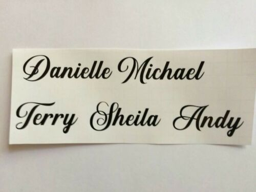 wine glass vinyl stickers names x 10 personalised diy wine glass decal