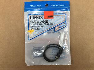 5//16 Mounting Hole Neon 6 Selecta  SL32112-6-BG Blue Indicator Light 125 Volt