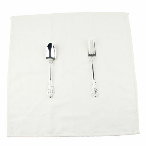 Set of 12 Soft Solid Color Linen Cotton Dinner Cloth Napkins 40 x 40 cm