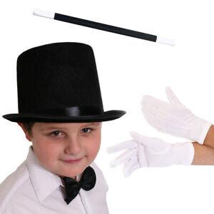 PAIR OF WHITE GLOVES KIDS MAGICIAN MIME WAITER FANCY DRESS GLOVES UNISEX