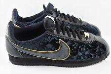 Details about Nike Women's Classic Cortez Sneakers SE Size 7.5 AV8205 001 Black Velvet & Gold