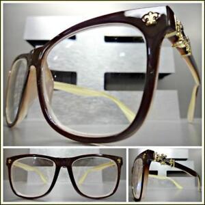 75d58086a88 Men VINTAGE RETRO Style READING EYE GLASSES READERS Brown Frame Gold ...