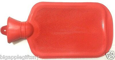 Small Rubber HOT WATER BOTTLE Bag WARM Relaxing Heat / Cold Therapy NEW