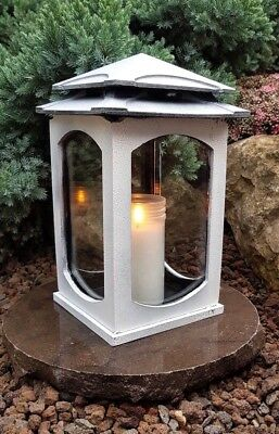Grablaterne Sockel Grablampe Lampe Grableuchte Grablicht Grabschmuck Herz Kerze