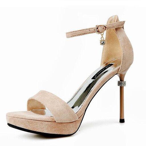 Seali stiletto eleganti 12 cm oro strass pelle sintetica comodi eleganti 9466
