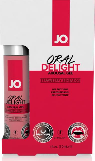 gel per rapporti orali aromatizzato JO Oral Delight - Strawberry Sensation