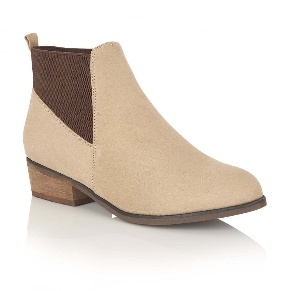 DOLCIS JANET CHELSEA WESTERN MEMORY FOAM SAND ANKLE BOOTS UK 8