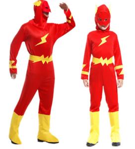 Adulto Disfraz traje de héroe el Flash Superhéroe De una ...