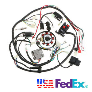 motorcycle wiring harness kit for push rod engine cdi rectifierimage is loading motorcycle wiring harness kit for push rod engine