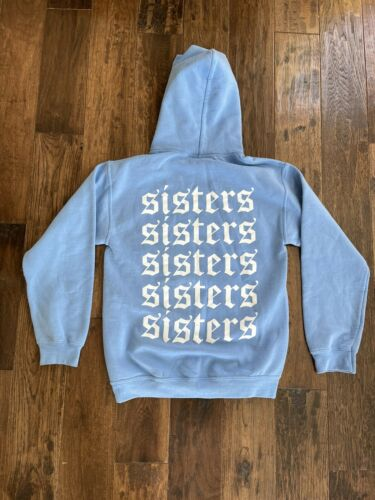 James Charles Sisters Hoodie Small Blue Repeating