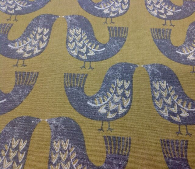 Iliv SMD Scandinavian Birds Aqua Cotton Print Fabric