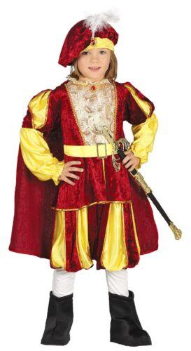 Garçons Royal Historique Tudor Prince King World Book Fancy Dress Costume Outfit