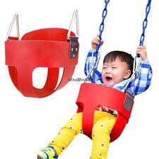 Safety Child Full Bucket Swing Seat High Back Swing Playground Backyard Park