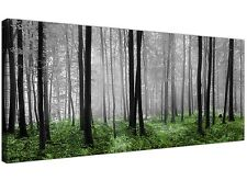 Modern Black White and Green Canvas Prints of Forest Trees for your Dining Room
