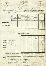 Esattoria Comunale S. Giovanni d'Asso Imposta sui Terreni - Siena 1877
