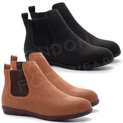 Nuova Linea Donna Piatto Tacco Basso Stivali Chelsea Donna Classico Caviglia Uk 3-8-mostra Il Titolo Originale Limpid In Sight